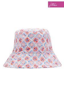 Joules Blue Floral Reversible Hat