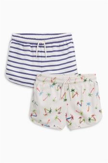 Floral Shorts Two Pack (3-16yrs)