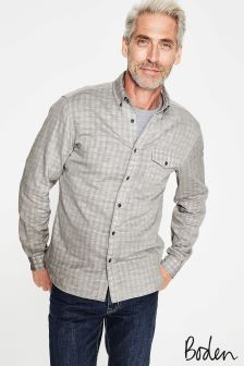 Boden Grey Double Cloth Shirt