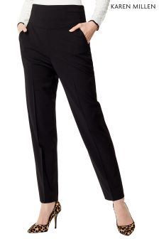 Karen Millen Black Corset Tailored Trouser
