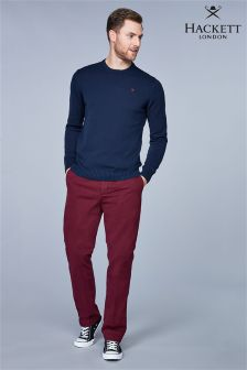 Hackett Burgundy Sanderson Taillored Chino