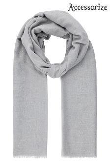 Accessorize Grey Flecked Foil Scarf