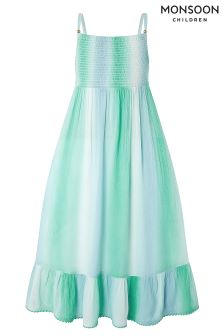 Monsoon Green Tyra Tie Dye Maxi Dress