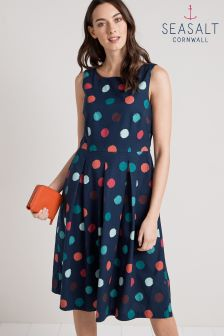 Seasalt Merthen Dress Sponge Spots Night