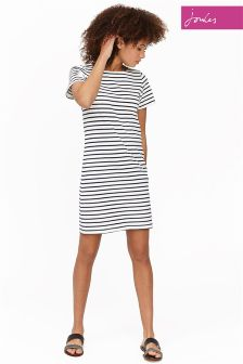 Joules Cream Stripe Riviera Dress