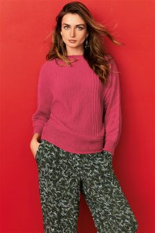 Rib Kimono Sleeve Sweater