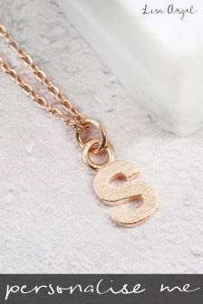 Personalised Bold Initial Pendant Necklace By Lisa Angel