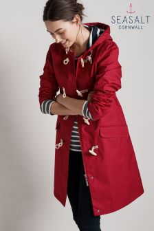Seasalt Red Currant Extra Long Seafolly Jacket