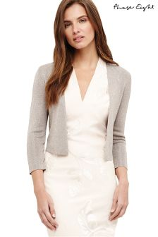 Phase Eight Praline Shimmer Salma Knit Jacket