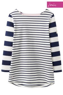 Joules Navy Stripe Harbour Jersey Top