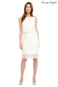 Phase Eight Ivory Abrienne Embroidered Dress