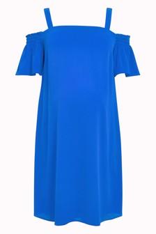 Maternity Cold Shoulder Strap Dress