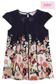 Baker By Ted Baker Navy Jersey Swing Dress