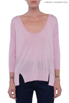 French Connection Pink Spring Light Scoop Neck Jumper