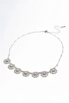 Pearl Effect Ornate Necklace