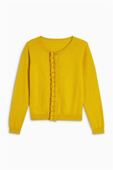 Ruffle Placket Cardigan (3-16yrs)