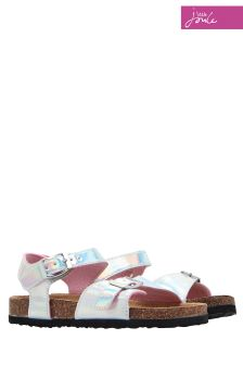 Joules Silver Tippytoes Sandal