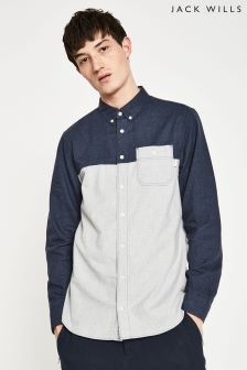 Jack Wills Navy/Grey Martindale Flannel Shirt