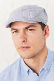 Stripe Lightweight Flat Cap
