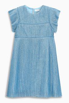 Metallic Pleated Dress (3-16yrs)