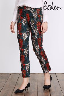 Boden Ink Pot Wisteria Printed Party Trouser