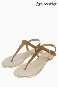 Accessorize Tan Villa Sandal