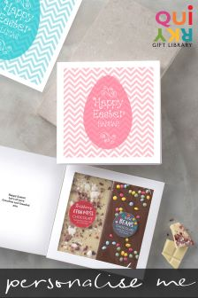 Personalised Two Bar Chocolate Easter Card by Quirky Gift Library