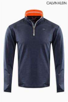 Calvin Klein Blue Track Performance Half Zip