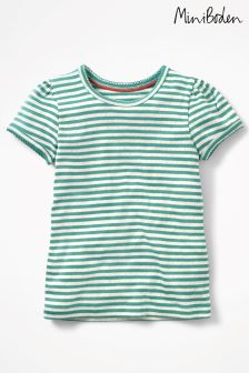 Boden Green Short Sleeved Pointelle Top