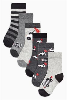 Transport Socks Seven Pack (Younger)