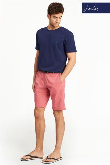 Joules Red Laundered Short