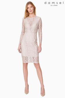 Damsel Metallic Eira Animal Lace Dress