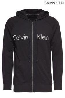 Calvin Klein Black Full Zip Logo Hoody