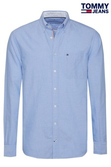 Tommy Jeans Blue Engineered Oxford Shirt