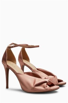 Satin Twist Sandals