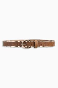 Whipstitch Laser Cut Belt