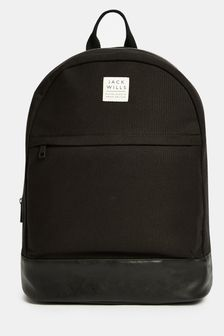 Jack Wills Black Portbury Backpack