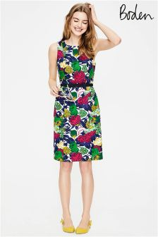 Boden Multi Bouquet Large Retro Pocket Dress