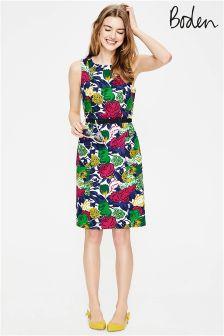 Boden Multi Bouquet Large Retro Pocket Dress