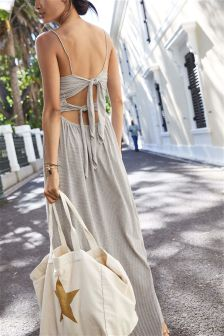 Bow Back Maxi Dress