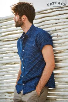 FatFace Indigo Beaulieu Geo Print Shirt