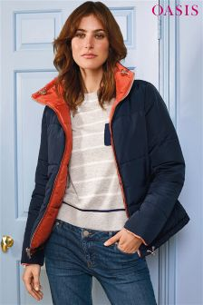 Oasis Orange Rachel Reversible Quilted Jacket
