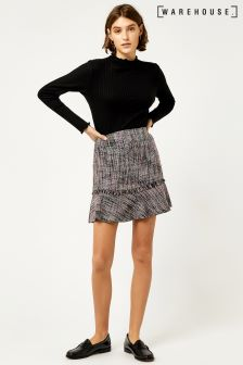 Warehouse Multi Molly Tweed Pelmet Skirt