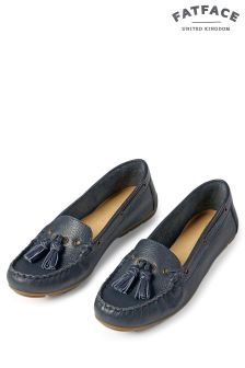 FatFace Navy Ailby Tassel Moccasin