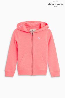 Abercrombie & Fitch Neon Pink Full Zip Tie Dye Hoody