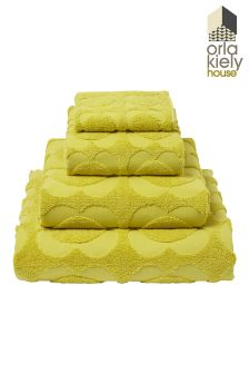 Orla Kiely Spot Sculpted Flower Towels