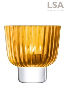 LSA International Amber Pleat Lantern