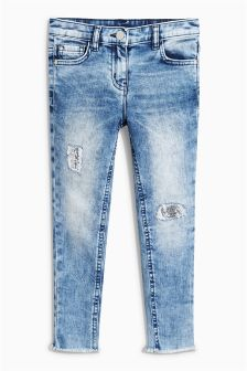 Sequin Distressed Skinny Jeans (3-16yrs)