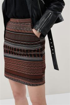 Stripe Jacquard Skirt