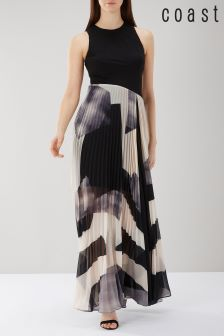 Coast Black Aria Geo Print Maxi Dress